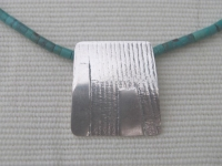 Detail of Linear Pattern Pendant SOLD