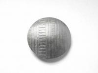 Sterling Silver Linear Pattern Domed Brooch