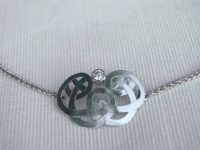 Sterling Silver Celtic Knot and Diamond Pendant