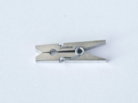 Miniature Sterling Silver Working Clothes peg can be clipped to clothing. Price £25 excl P+P