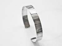 10mm Linear Pattern Sterling silver Bracelet. Price £70 excl P+P