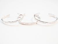 3 X 5mm Linear Pattern Sterling Silver Bracelets. £65 per bracelet excl P+P