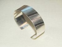 Linear Pattern 20mm Sterling Silver Bracelet. Price £105 excl P+P