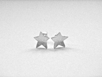Concave Linear Pattern Sterling Silver Star Shape stud Earrings £18 exc P&P