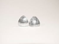 Domed Triangular Linear pattern Sterling silver stud earings. £18 excl P&P