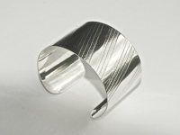 Extra wide Linear Pattern Sterling SIlver Cuff Bracelet £115 excl P+P