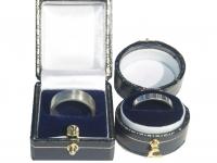 Linear Pattern Wedding Rings in Sterling silver