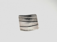 Linear Pattern Sterling Silver Ring.
