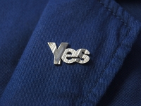 Yes Pin on Lapel